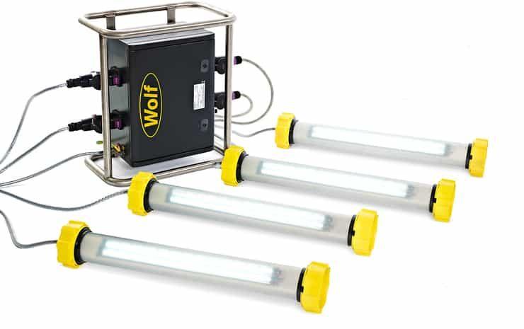 Tank Cleaning Lights ATEX Portable Lighting For Hazardous Area Maintenance & Inspection of Tanks