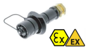 Hazardous Area Connectors | Amphenol Amphe-EX EXM-A03 Flangeless Inline Receptacle