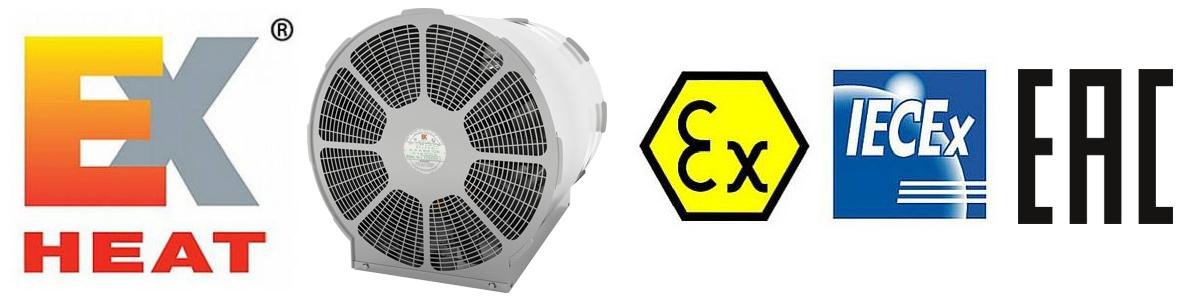 ATEX Fan Heaters - Hazardous Area Zone 1 & Zone 2 - EXHEAT LFH