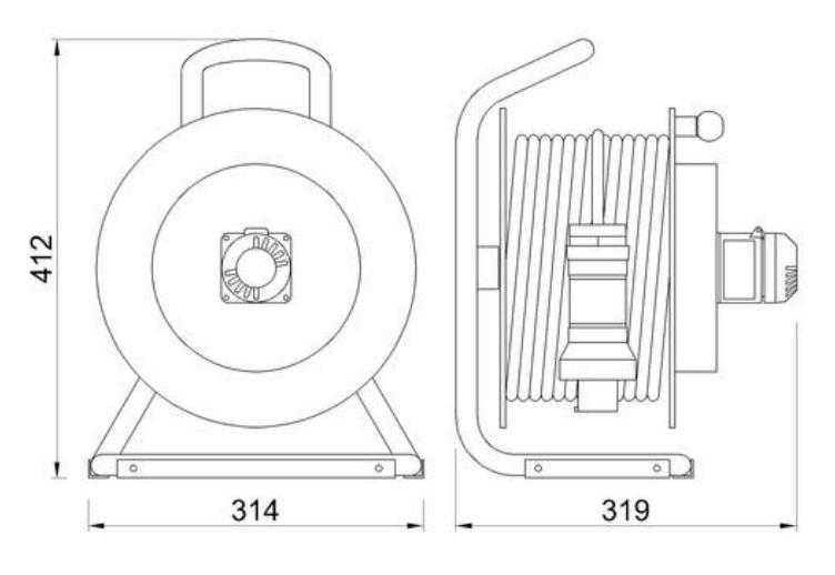 ATEX Cable Reel Dimensions
