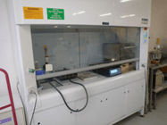 Fume cupboards in laboratories will be considered as a hazardous area when flammable gasses and vapours are involved.