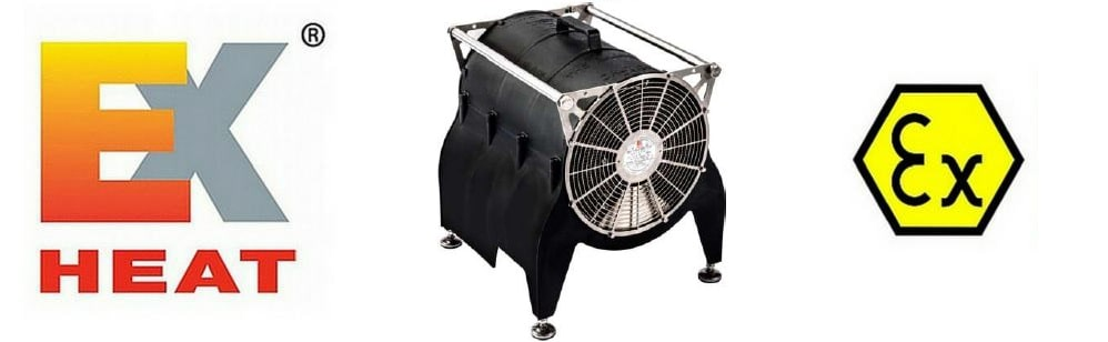 EXHEAT Offshore Portable Fan Heater ATEX
