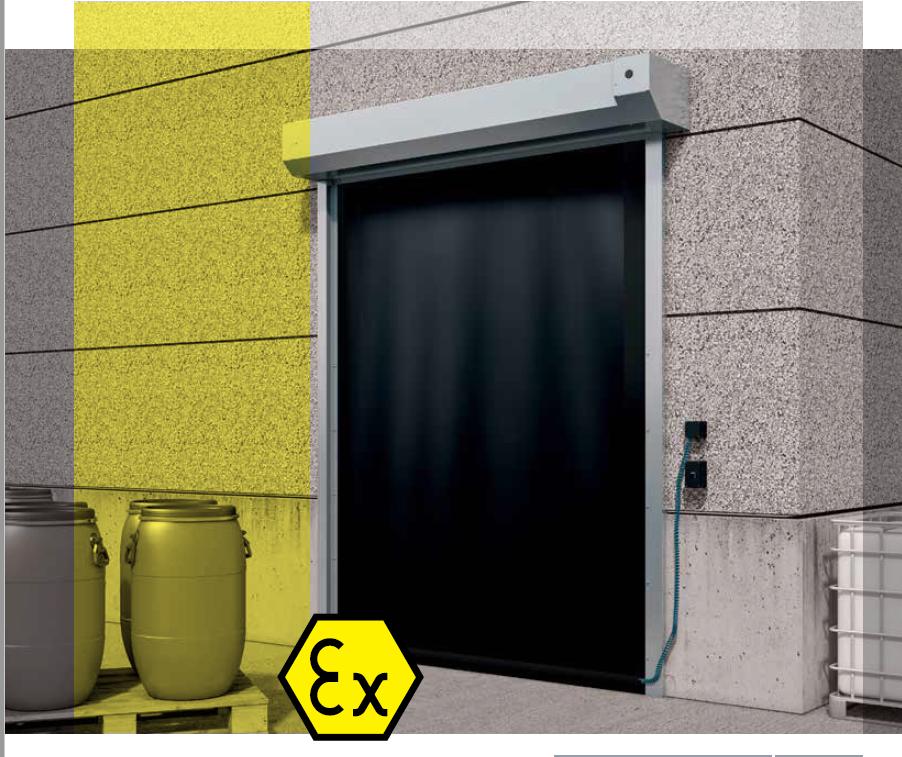 ATEX Doors – Exterior High Speed Roll-up Door