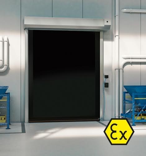 ATEX Doors Zone 1, Zone 21 - Interior High Speed Roll-up Door - DYNACO S-539