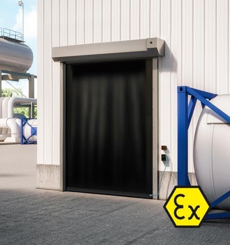 ATEX Doors Zone 1, Zone 21 - Wind Resistant High Speed Roll-up Door - DYNACO S-559