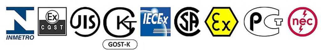 EXHEAT Heaters & International Hazardous Area Classifications include IECEx, ATEX, INMETRO, GOST & EAC