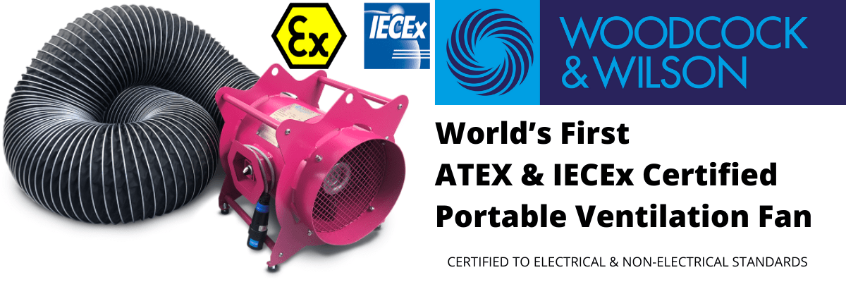 ATEX & IECEx Certified Portable Ventilation Fan