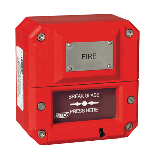 MEDC BG3 Call Point  – Ex ia Intrinsically Safe and weatherproof ATEX & IECEx call points for Zone 1 & Zone 2 hazardous areas