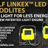Wolf Linkex LED Floodlites With SOVI Wolf's Unique Safety Technology