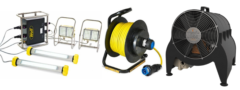 Confined Spaces LinkEx Confined Space Lighting Kits ATEX Cable Reel Portable ATEX Heater
