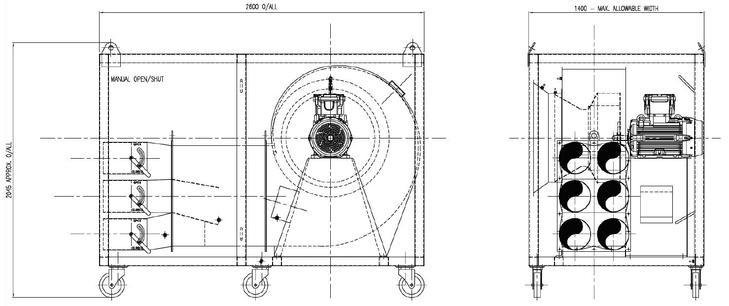 Tank Vent Fan 710 Dimensions